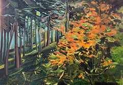 Herbstbaum, 70x50 cm, Öl/Leinwans, 2019