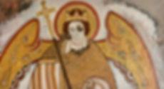 Erzengel Michael aus Faras, 130x70cm, Öl Leinwand, 2018
