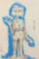 selbst, 18x25cm, Öl Pastell, 1995