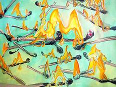 Flammenstudie, 100x70cm, Mischt. Papier, 2013