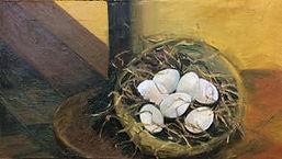 Nest, 70x40cm, Öl Nessel, 1994