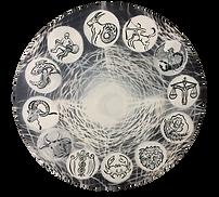 Tierkreis, Durchmesser 40 cm, Öl/Leinwand, 2019