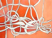 Friedenstaube gefangen, 80x60cm, Acryl Leinwand, 2015