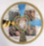 Lesungstext Osterzeit, 60x50cm, Collage, 2011