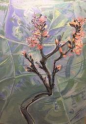 Frühlung Pfirsichblüten, 80x120cm, Öl Leinwand, 1995