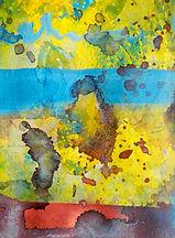 Die Angst sagt die Richtung zu einem Gedicht von C. Schubert-Weller, 14x19cm, Mischt. Papier, 2016