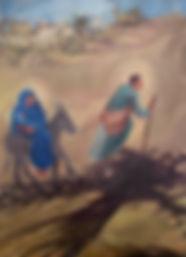 *verkauft* Gestaltung der Apsis in St. Josef, Lützelsachsen, Triptychon 3x 80 x 120 cm Öl/Leinwand