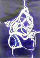 Pieta abstrahiert, 542x55cm, Acryl Papier,  2015