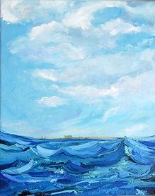 Meer Dänemark, 40x50cm, Öl Leinwand, 2012
