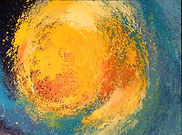 Neue Welten 2, Lichtball, 60x80cm, Öl Leinwand