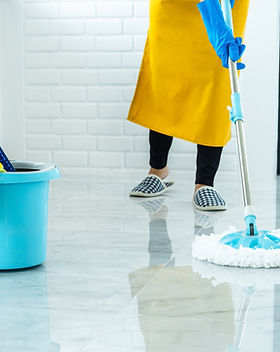 happy-young-woman-blue-rubber-using-mop-
