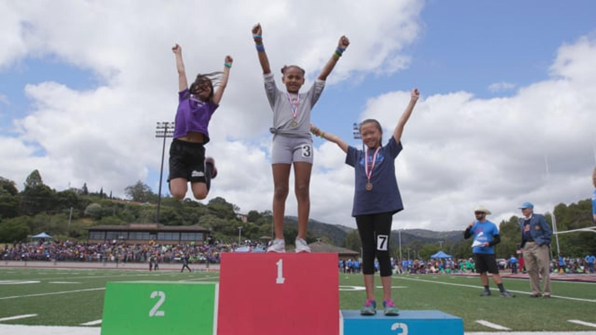 Bullis Charter School hosts abi-annual Junior Olympics for K-8 charter school students and families from across Santa Clara County to celebrate education and community.