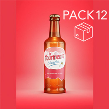 La Tourmente BLANCHE - Pack de 12 Bières 33cl