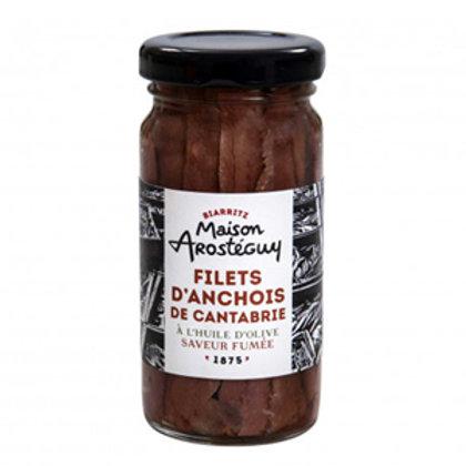 Anchois de Cantabrie à l'huile d'olive