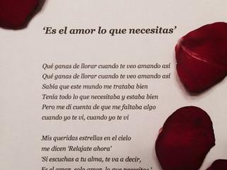 スペイン語の歌詞に初挑戦 My first try to write lyrics in Spanish