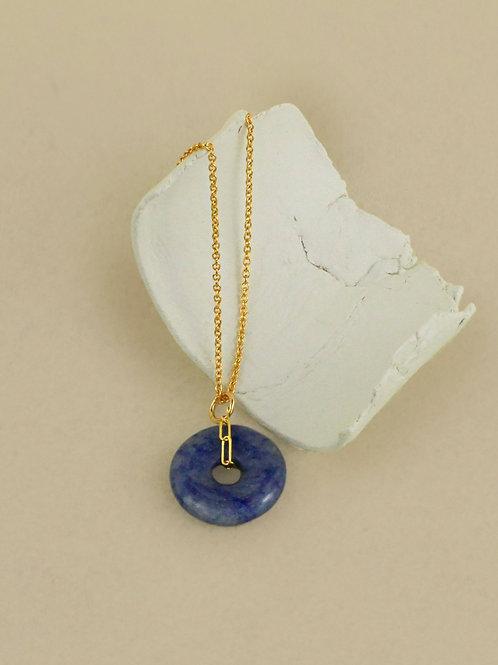 Collier Lucy - Quartz bleu