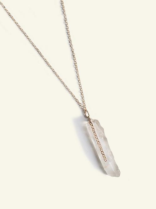 Collier Valentina - Cristal de roche