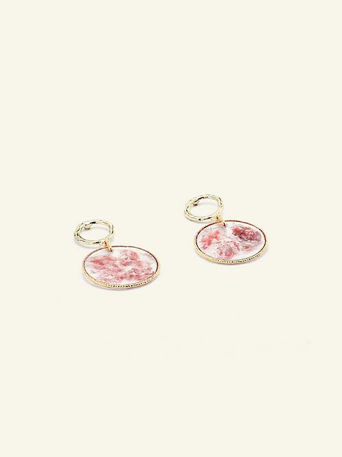 Boucles VICTOIRE - Fuschites roses