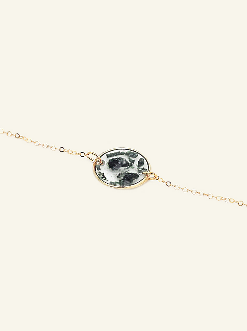 Bracelet MARION - Fuschites vertes
