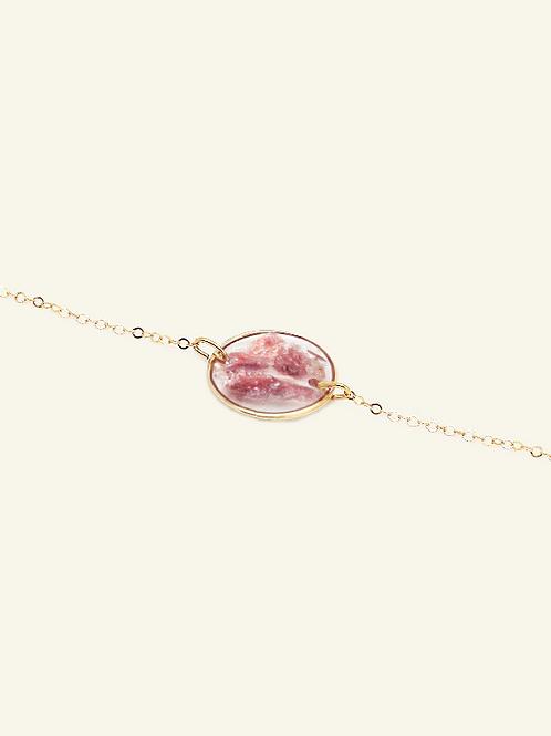 Bracelet MARION - Fuschites roses