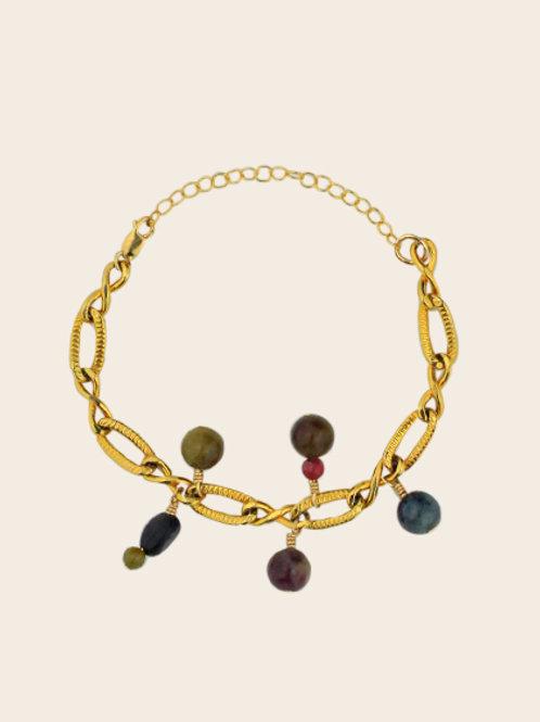 Bracelet Gaelle - Tourmalines multicolores
