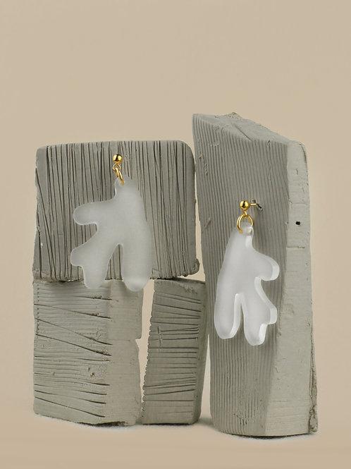 Boucles d'oreilles Caroline - Gold filled et acrylique recyclé