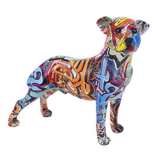 Graffiti standing dog