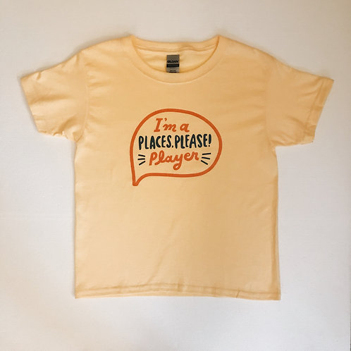 PLACES PLEASE! Player t-shirt in yellow