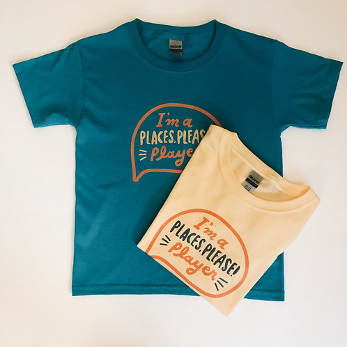 PLACES, PLEASE! Player Tee Youth