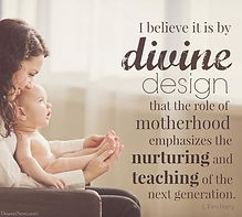 Motherhood divine design role  nuture an
