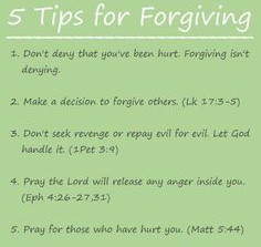 Thoughts on forgiveness....