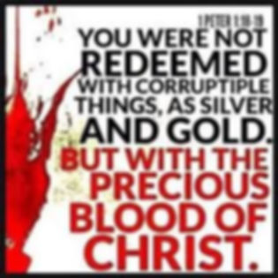 1 Peter 1 8-9 Redeemed by the blood of t