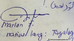 A wonderful Tagalog signature