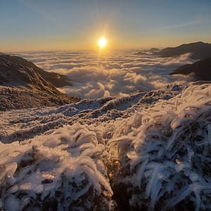 Qilai Nanhua Mountain: Light and Ice
