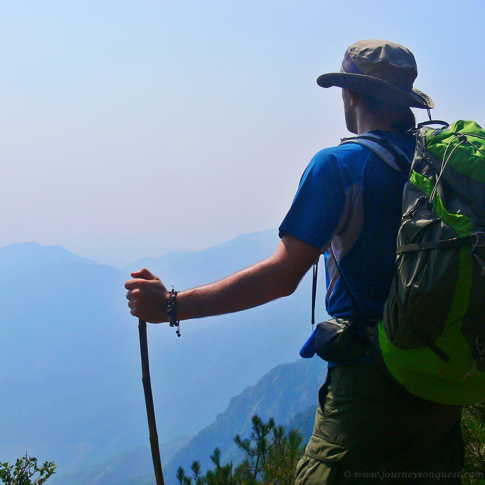 Backpacking and hiking in mountains in Asia gives a sense of freedom, adventure and exploration