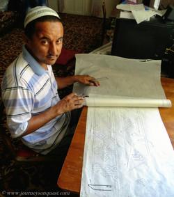 Davlat Safarov, Master Calligrapher