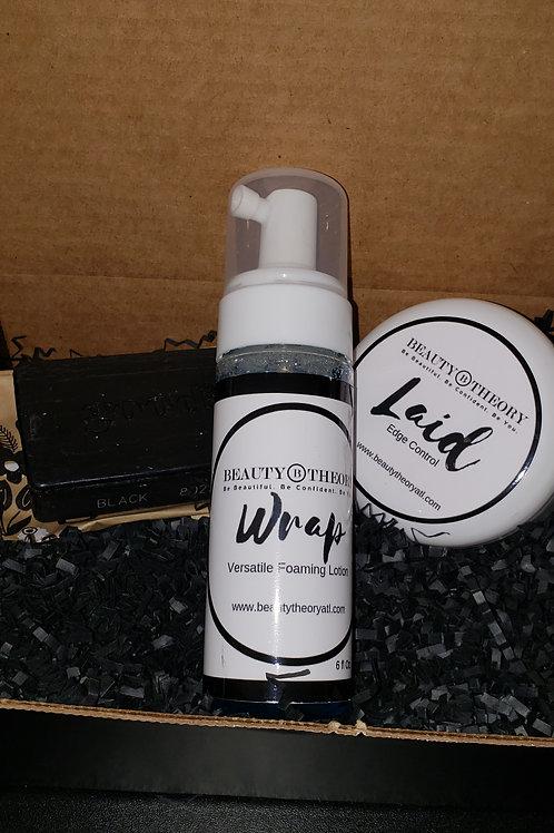 LAID edge control WRAP versatile foaming lotion Combo