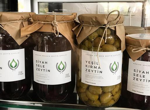 Köstem Organik Zeytin Çiftliğinin doğal ürünleri hazır