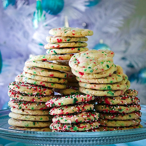 Funfetti Christmas Cookie Box (24 cookies)