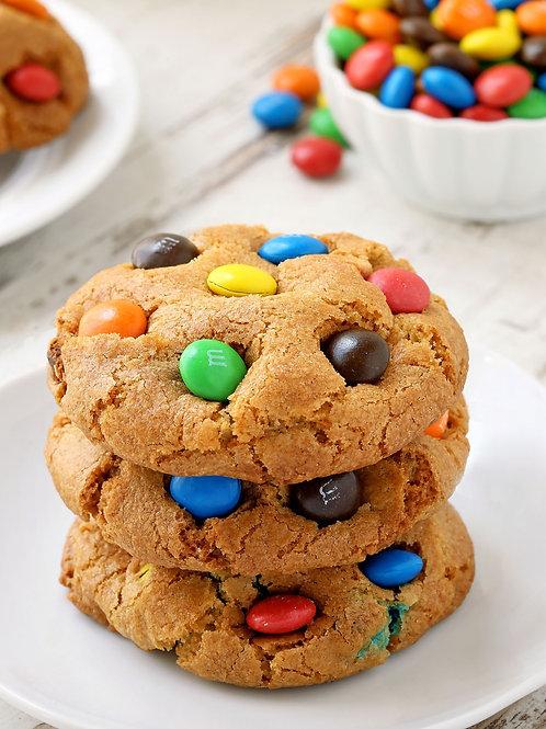 One Dozen M & M Cookies (Gluten Free)