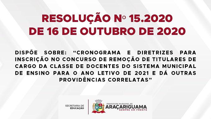 Resolução N°15.2020