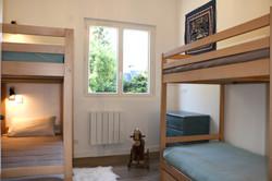 Chambre des lits superposés