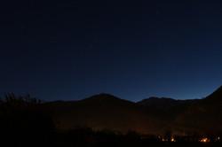 Vue de la terrasse - ciel étoilé
