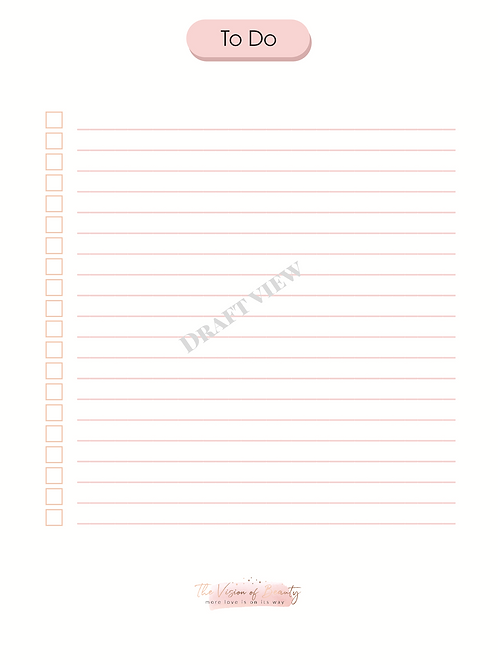 To Do - Journal Template