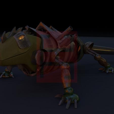 Iguana steampunk