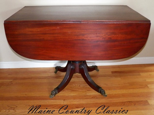 19th C. Federal Period Mahogany Breakfast Table
