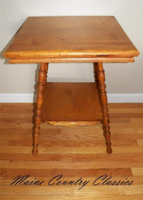 Antique larkin 2 tier parlor lamp table stand maine country antique larkin 2 tier parlor lamp table stand mozeypictures Images