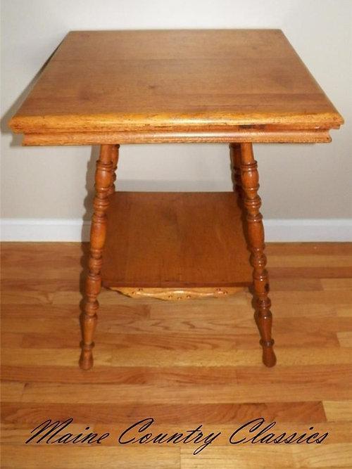 Antique LARKIN 2 TIER PARLOR LAMP TABLE STAND