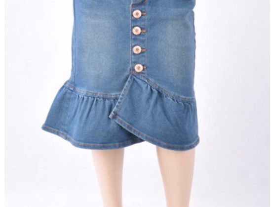 Mila Denim skirt for little girls