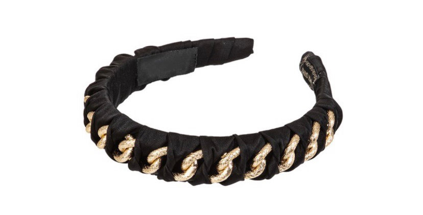 Chain fabric cover headband (3colors available)